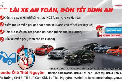 Honda Ôtô Thái Nguyên - Khuyến mại dịch vụ cuối năm