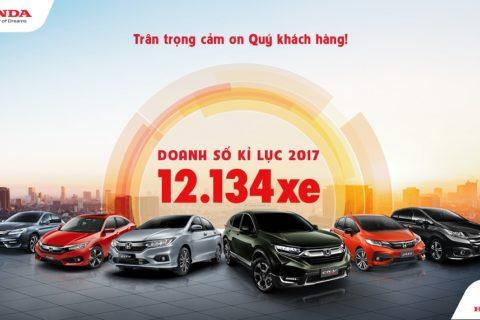 Doanh số bán xe Honda 2017