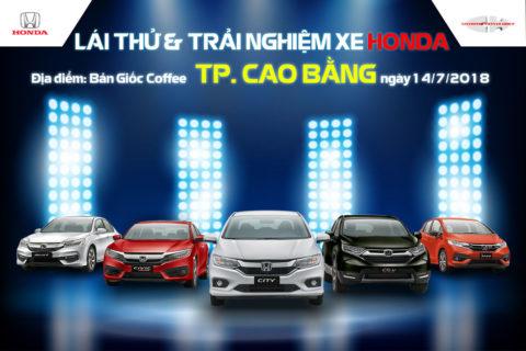 CT lái thử xe Honda tại Cao Bằng