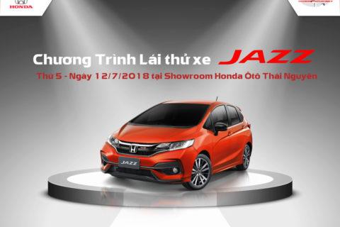 lái thử xe JAZZ tại Honda Ôtô Thái Nguyên