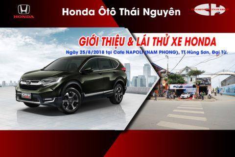 lái thử xe Honda tại đại từ